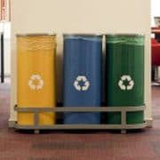 recycle bins in office
