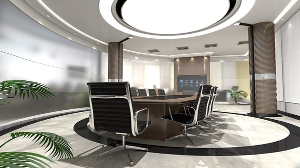 Modern conference room in office