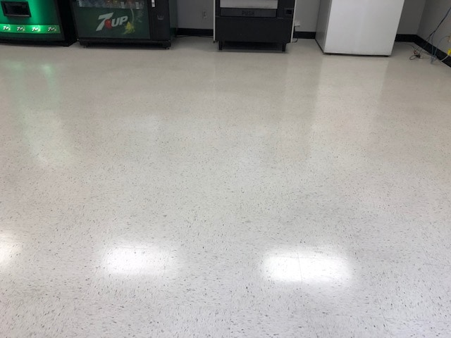 Clean floor after getting waxed.