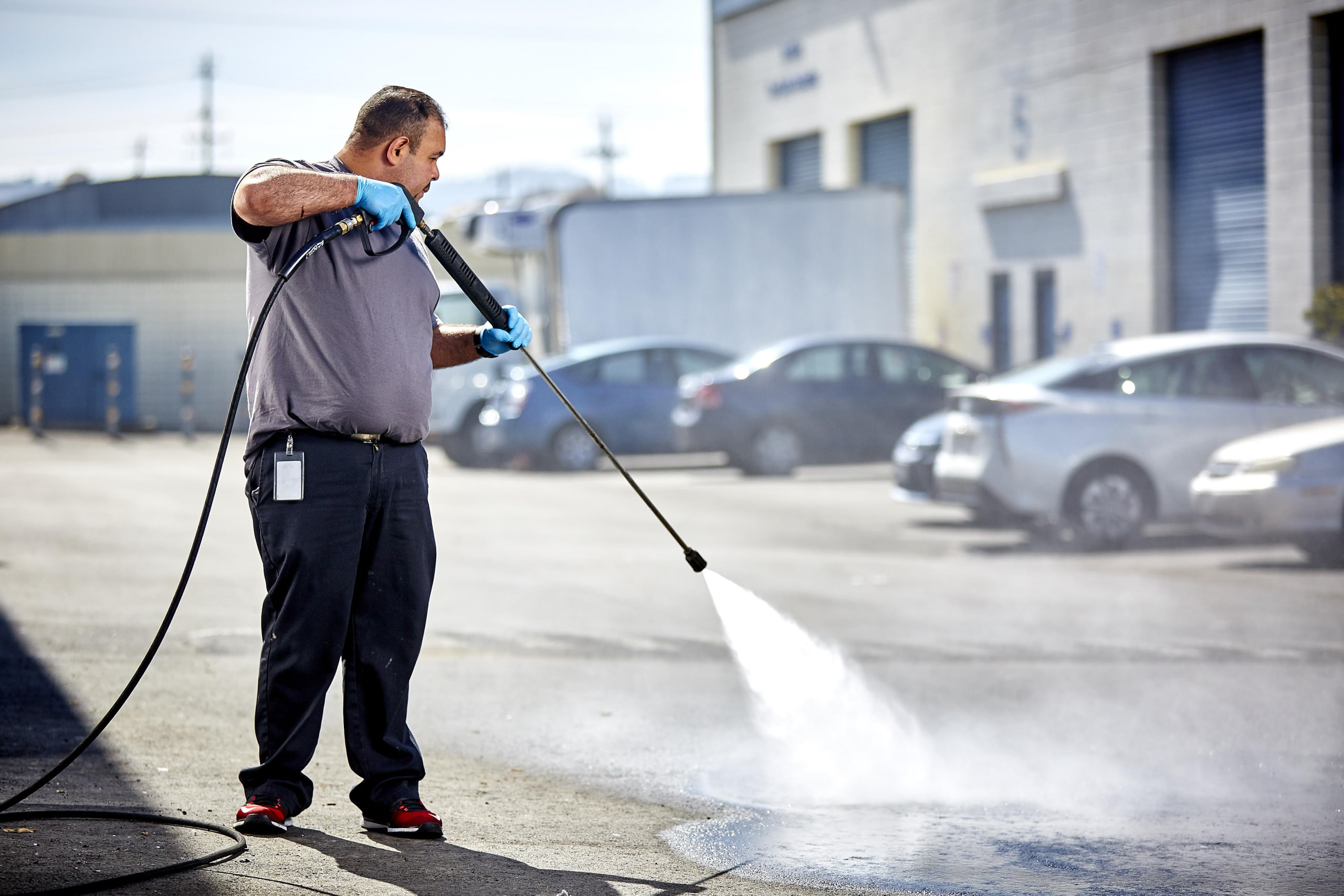 parking lot power washing