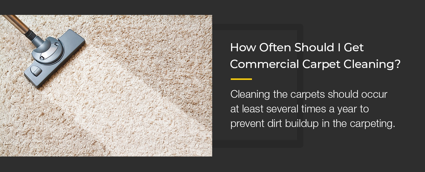 How often to get commercial carpet cleaning