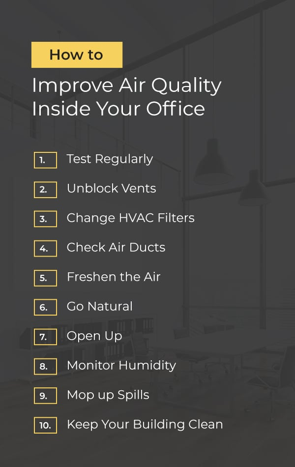 How to Improve Air Quality Inside Your Office