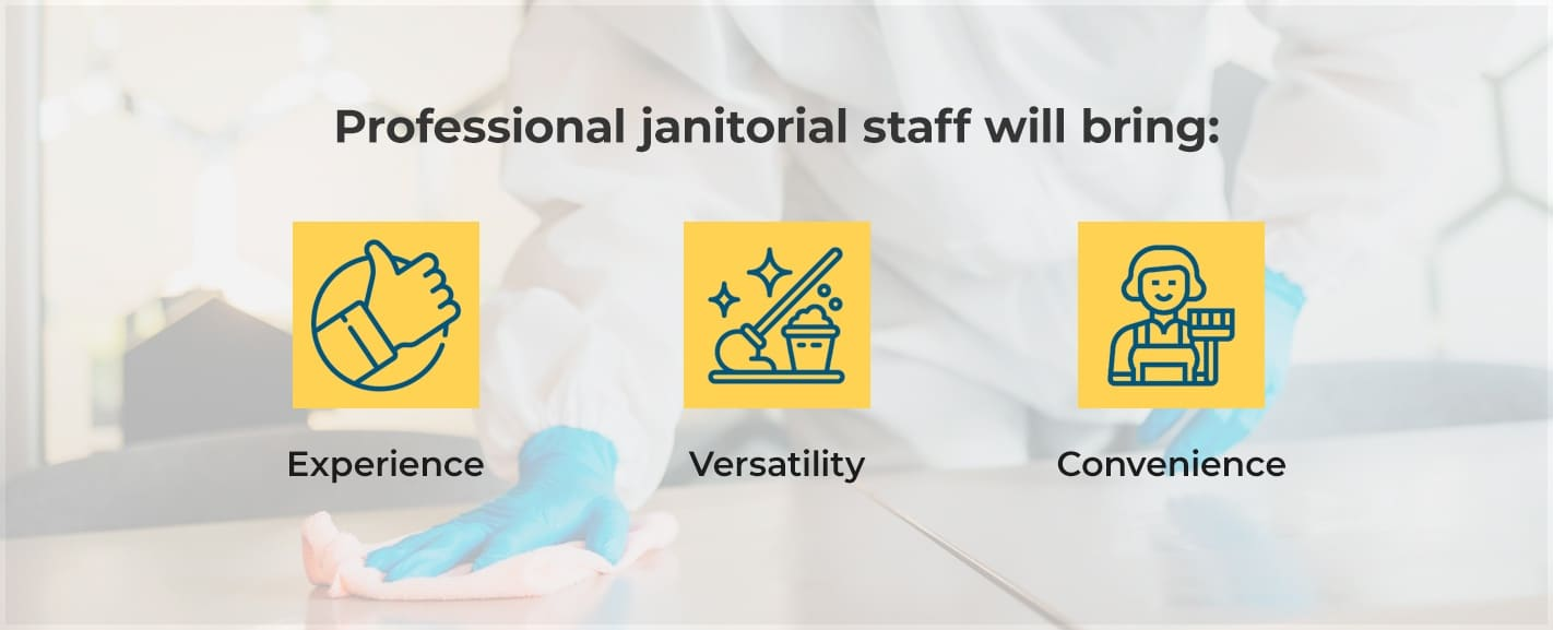 hire professional janitorial staff